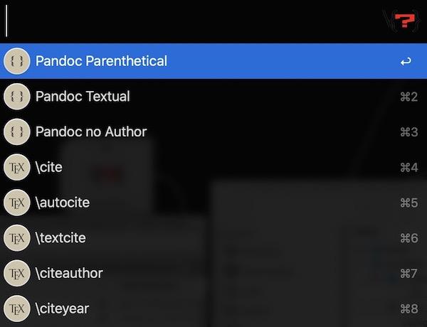 Citation Options